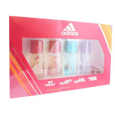 Adidas dárková sada dámská  Get Ready! 30 ml + Fruity Rhythm 30 ml + Pure Lightness + Natural Vitality 30 ml